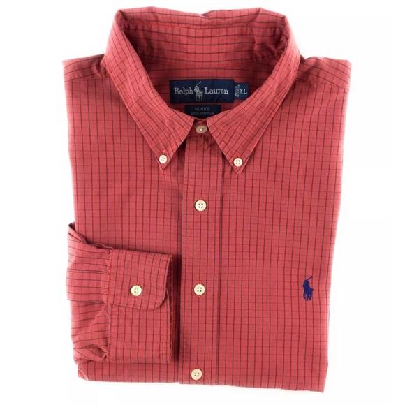 303fce23ba7f Ralph Lauren. Mens XL Blake Shirt Long Sleeve Rust.  M 5b6309775fef371d785215a7
